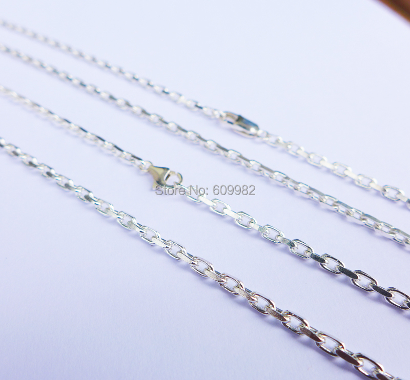 Sterling Silver Chain Necklace 12 to 20 inches