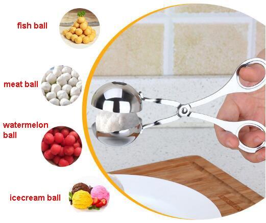 Kitchen Tools Fruit Gadgets Multifunctional Ball Maker Machine for Icecream Meat Fish Flesh Watermelon Rice Dough Melon Baller