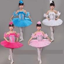 Nuovi Bambini di Arrivo Vestito Dal Tutu di Balletto il Lago Dei Cigni Multicolor Costumi di Balletto Della Ragazza Dei Capretti Vestito Da Balletto per I Bambini
