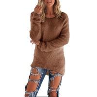 Women Plus Size S 3XL 8 Colors Sweater 2017 Autumn Winter Fashion All Match Front Short