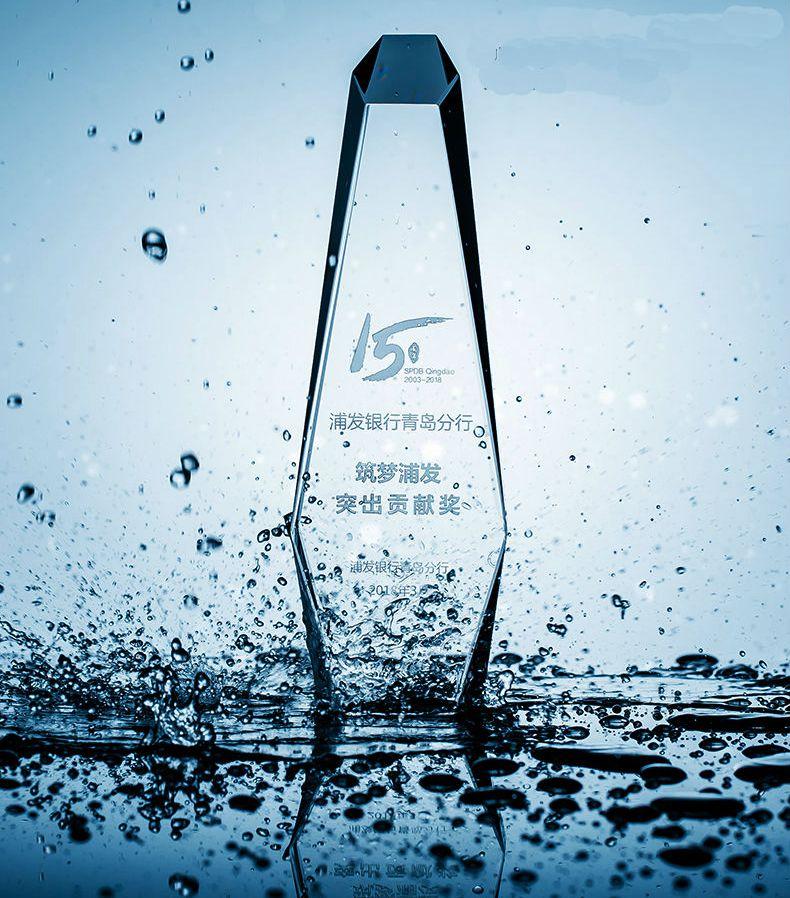 купить High quality!Creative waterdrop crystal trophy outstanding staff souvenir,Free shipping! по цене 6459.08 рублей