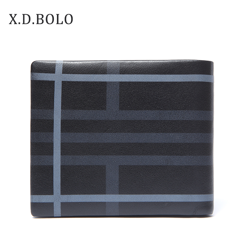 XDBOLO 2018 fashion brand men wallets slim credit card holder male pocket purse male clutch genuine leather bifold wallet men plaid pu leather wallet light bifold fashion designer credit cards holder clutch id card organizer brand purse for men phd08