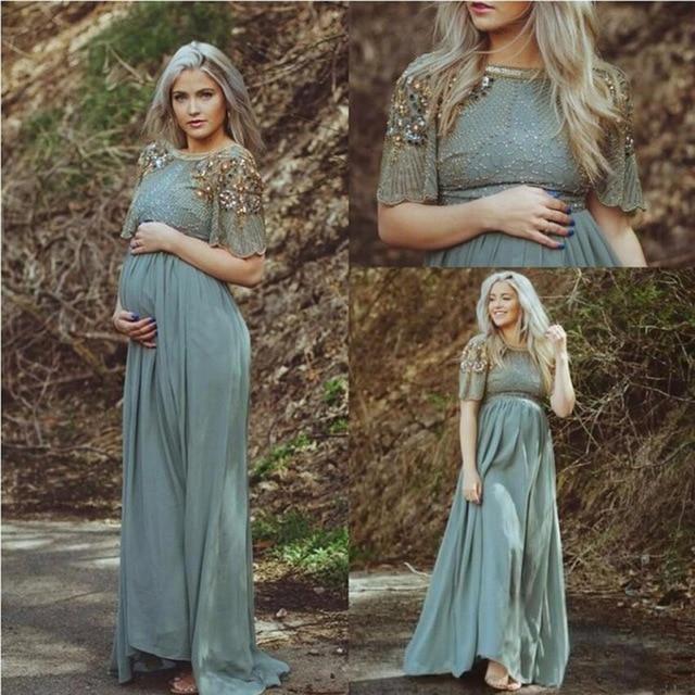 Arabic Pregnant Evening Dress 2016 Formal Turkish Islamic Muslim