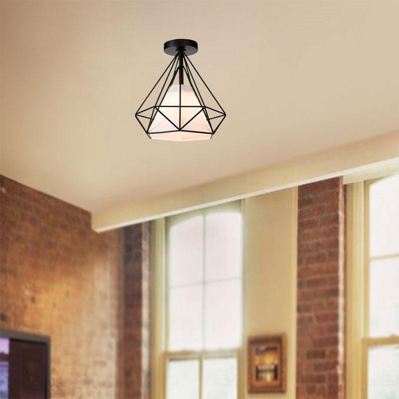 HTB1bSKQX79E3KVjSZFrq6y0UVXa5 20cm Vintage Industrial Rustic Flush Mount Ceiling Light Black / White Metal Lamp Fixture Nordic Style Creative Retro Light Lamp