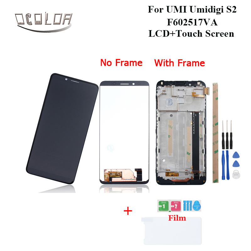 ocolor For UMI Umidigi S2 F602517VA LCD Display and Touch Screen Frame Tools 6 0 For