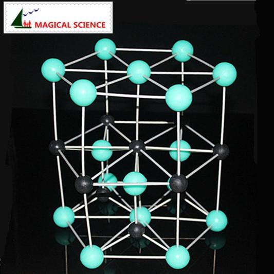 Educational Toys 30mm ZnS model Hexagonal zinc sulfide Crystal structure Model Chemistry Molecular Modeling Zinc ore model