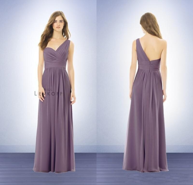 One Shoulder 2015 A Line Coral Long Bridesmaid Dresses Chiffon Plus ...