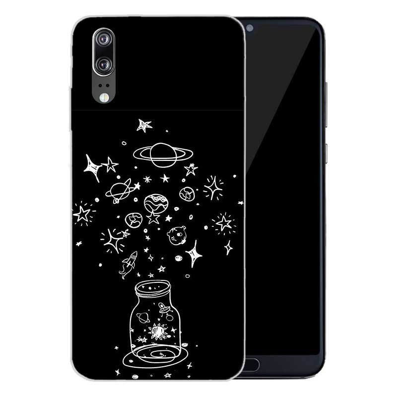 Complex Formula Soft Silicone Phone Back Case For Huawei P20 P30 P8 P9 P10 lite Pro Plus P Smart TPU Cover in Fitted Cases from Cellphones Telecommunications