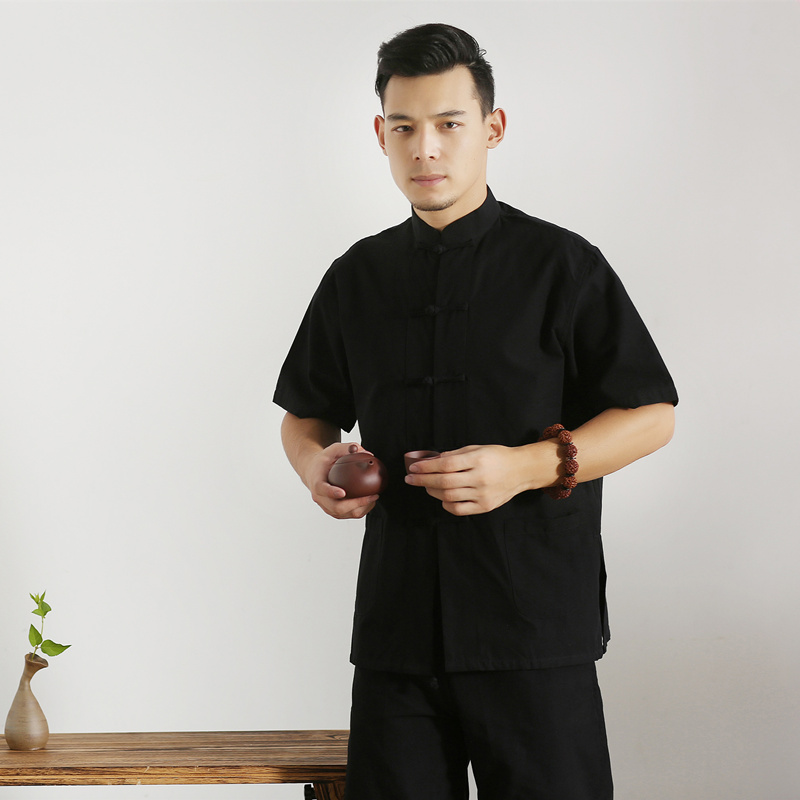 Umorden majica kratkih rukava Pamuk Tang Top Men Kung Fu Tai Chi - Nacionalna odjeća - Foto 2