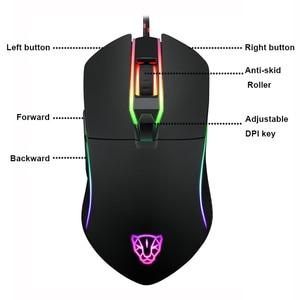 Image 2 - Motospeed V30 RGB תכנות 3500 DPI משחקי Gamer עכבר USB מחשב Wried אופטי עכברים הנשימה תאורה האחורית LED עבור מחשב משחק