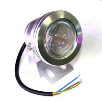 Waterproof IP68 Underwater Led Strip Silver Shell Convex Lens 12v Underwater Pool Lights Red Green Blue