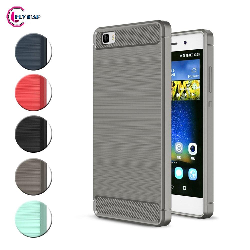 TPU Case for Huawei P8 Lite ALE-L21 ALE-L23 Soft Silicone Carbon Fibe Case Mobile Phone Cover for Huawei P 8 Lite P8Lite Coque