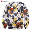 Sportlover New Cute Animal Pug Full Print Women Men Sweatshirt 3D Funny Hoodies Kawaii Streetwear Fall Fashion Sweat Shirts Tops