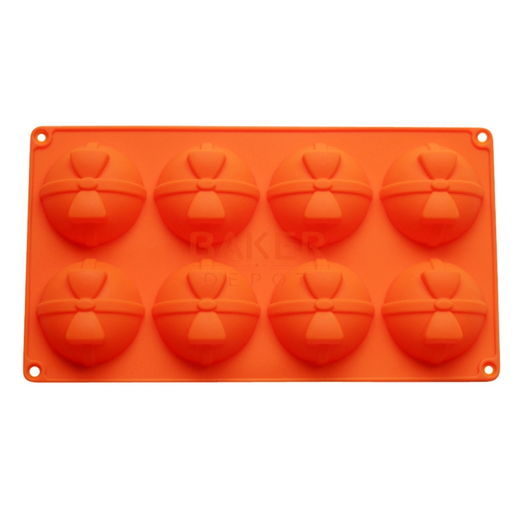 Silicone bakeware 8 holes round bow flower shaped silicone chocolate mold cake molds jelly pudding mold CDSM-298