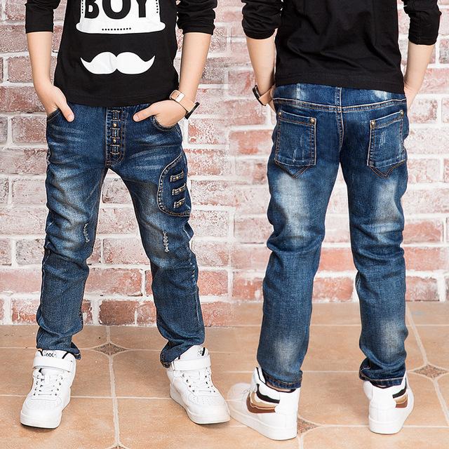 Ano novo, calças de brim menino para 2 a 14 anos de idade as crianças desgaste estilo elegante e de alta qualidade crianças calças de brim, jeans meninos