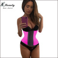FeelinGirl Steel Bones 2016 Women Waist  Corselet Latex Corset Waist Cincher Bustier Corpetes E Espartilhos Women Shapewear
