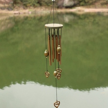 9 Tubes Garden Decorations Birthday Valentines Day Copper Wind Chimes Love Heart Outdoor Living Yard Gift 60 Cm Antirust