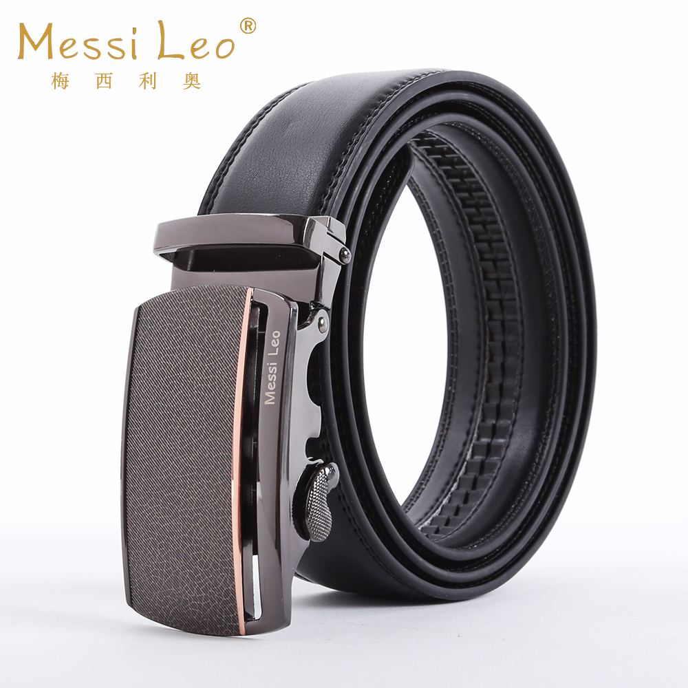 Hot Sale Messi Leo Man Automatic Buckle Belts Genuine Men's Leather Belts Cowskin Fashion Casual Belt For Male Formal Novelty