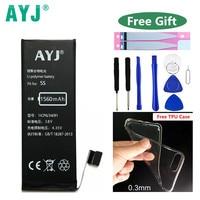 Original AYJ Phone Battery For Apple Iphone5s 5c Iphone 5s Bateria Real Capacity 1560mAh Replacement Batteries