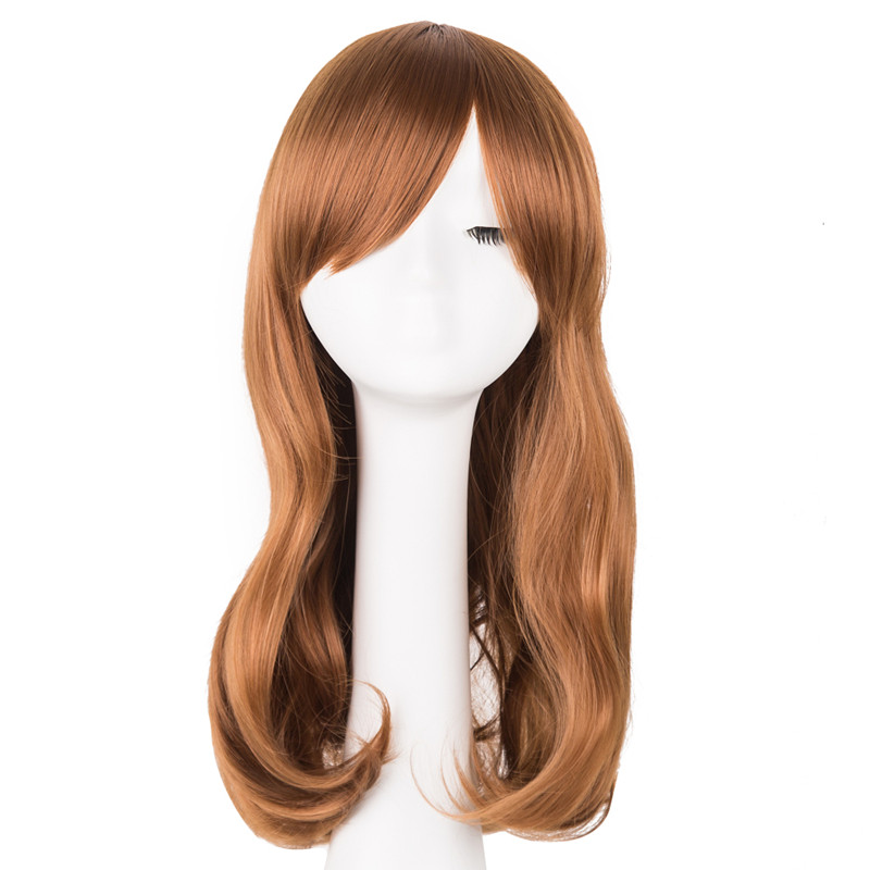 Synthetic Wigs Romantic Black Wig Fei-show Synthetic Heat Resistant Carnival Halloween Costume Cos-play 26 Inches Long Curly Hair Female Party Hairpiece Synthetic None-lacewigs