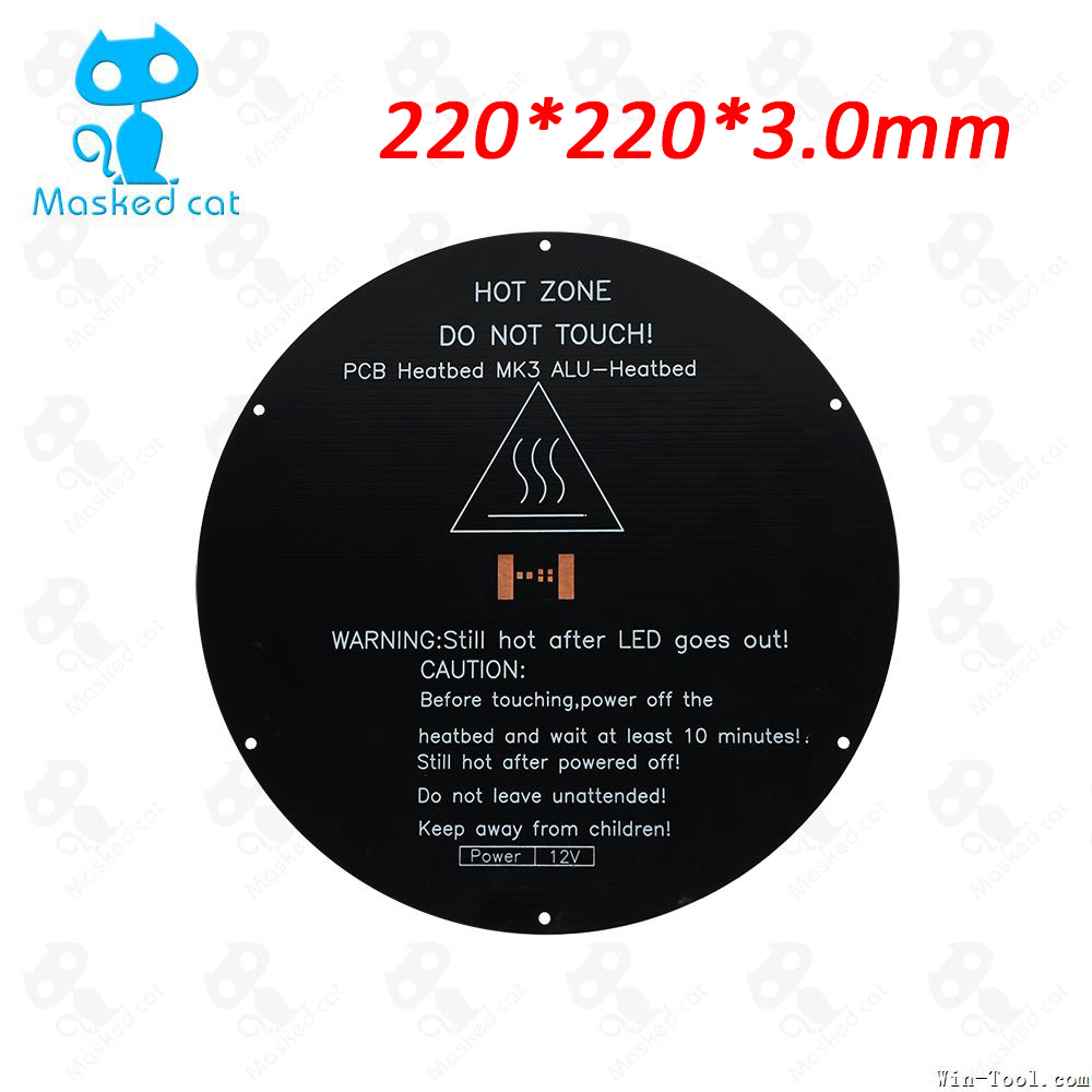 3D Printer hot bed MK3 220*3mm Aluminum Heatbed dual power 12V round PCB Heat bed for 3D printer parts 1pc hot bed heat plate makerbot 3d printer kit reprap 3d printer 12v hot bed heat plate heat bed pcb 150 230