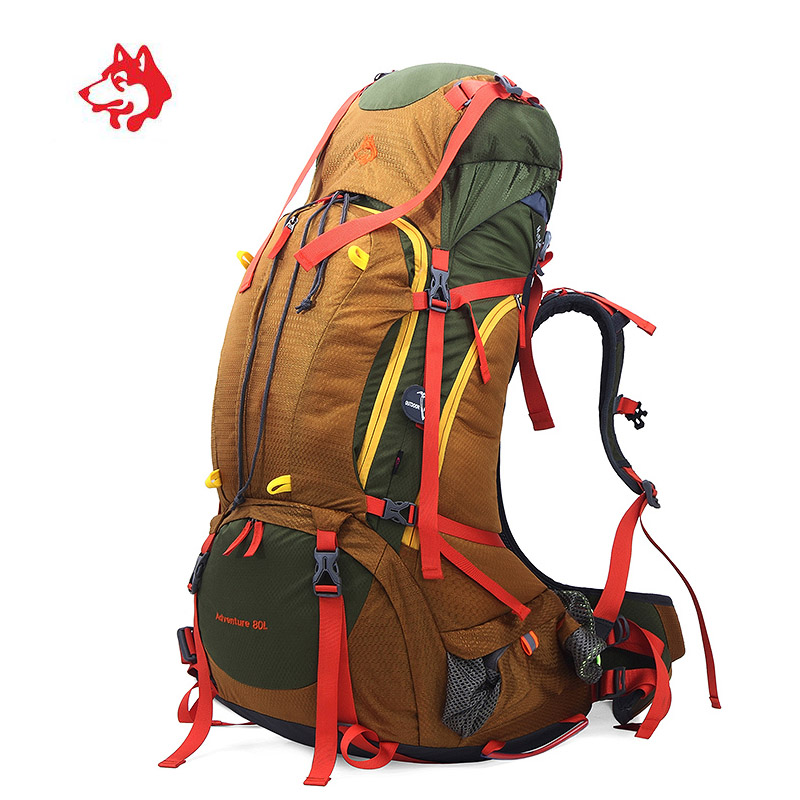 80L Big Capacity Sports Outdoor Travel Tourist Hiking Backpack Rucksack Trip Bag For Camping Waterproof Trekking