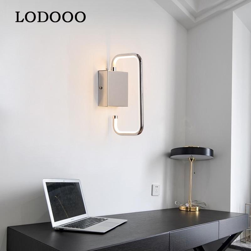 新しい現代の主導壁ランプアルミメッキホーム照明リビングルームレストラン寝室玄関壁ライトクロームゴールドメッキ  グループ上の ライト & 照明 からの LED 室内壁掛け照明 の中 1