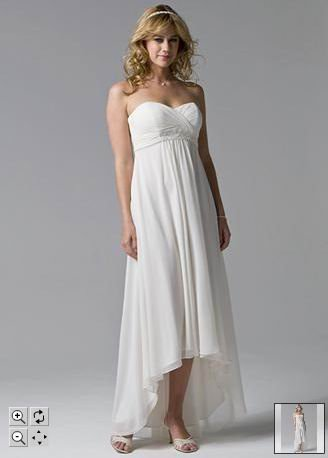 Plain White Chiffon Strapless Wedding Dress Custom In Dresses From Weddings Events On Aliexpress Alibaba Group
