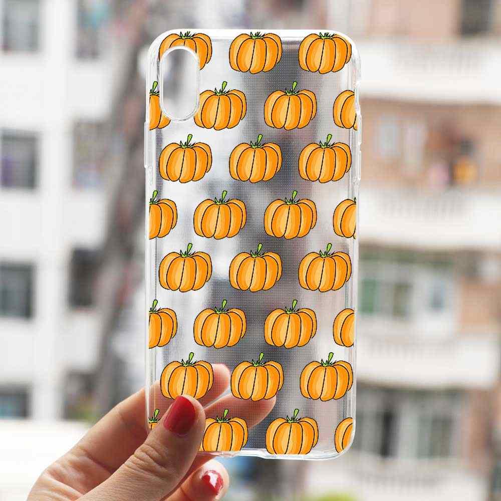 Mùa Thu Lá Mùa Thu cáo bí ngô Halloween Họa Tiết Ốp Lưng điện thoại Samsung A50 A70 A40 S7 A6 A8 A7 2018 S10 s8 S9 Plus TPU Cover