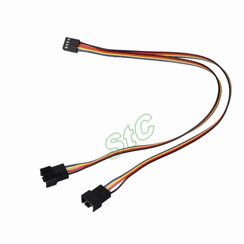 Aliexpress Com Buy 5pcs Gdt Pc 4pin To 2x4pin Fan Cable