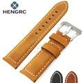 Watchbands 22mm 24mm Handmade Retro Genuine Leather Men Watch Band  Women Belt Watch Strap Steel Stainless Buckle Clasp