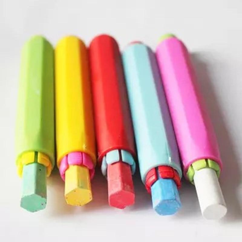 10 Pcs/lot Wholesale New Dustless Chalk Holder Pen Chalk Clip For Teacher Porta Tiza On Blackboard Sticker Chalkboard