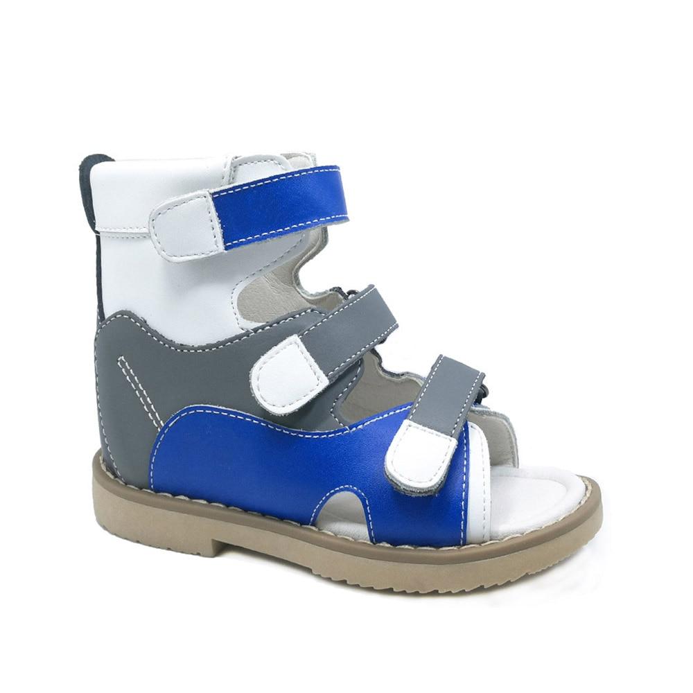 Kids Summer Boys Sandals New Designer Children Flats Breathable Boys Girls Orthopedic Leather Sandalias Fashion Shoes