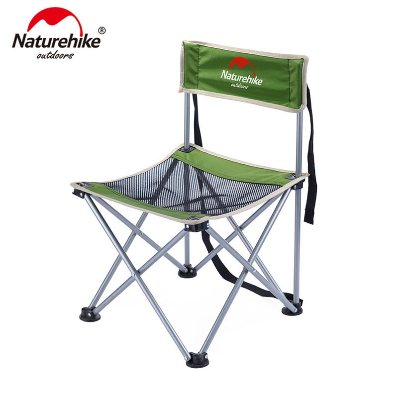 Naturehike Foldable Camping Chair Portable Outdoor Fishing Beach Chair Small Campstool NH16J001 J