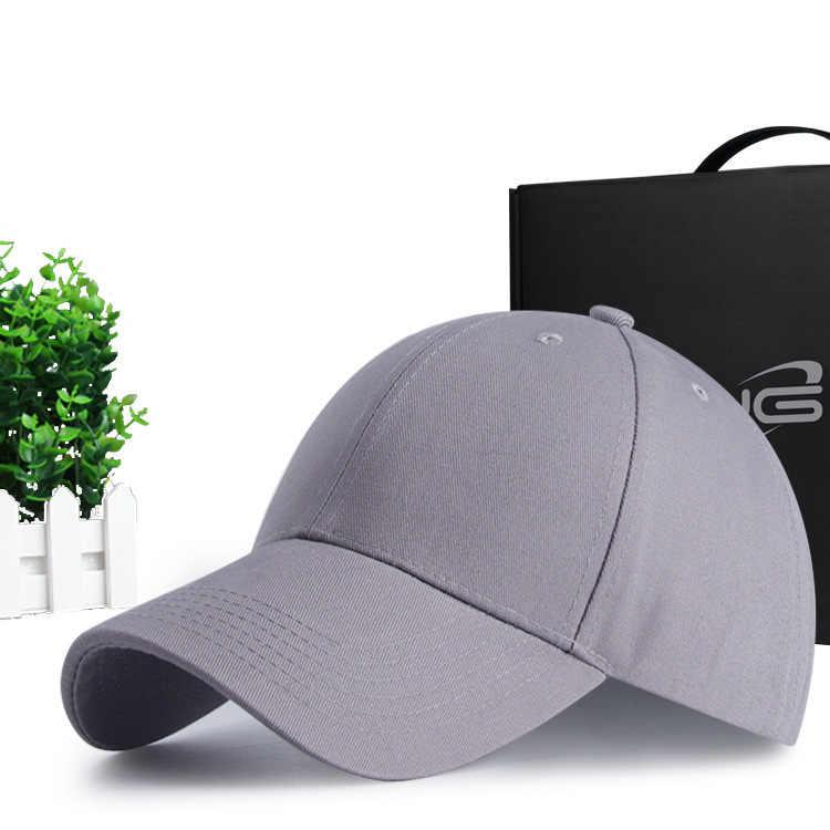 男性ビッグヘッド太陽帽子純粋な綿のゴルフ帽子大人の良質ピークロゴカスタマイズされたソリッド色野球キャップ SM XL