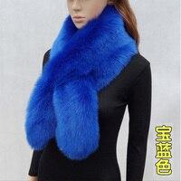 New Faux Rabbit Fur Scarf Super Soft Faux Fur Collar Long Thick Fur Muffler Cute Warm