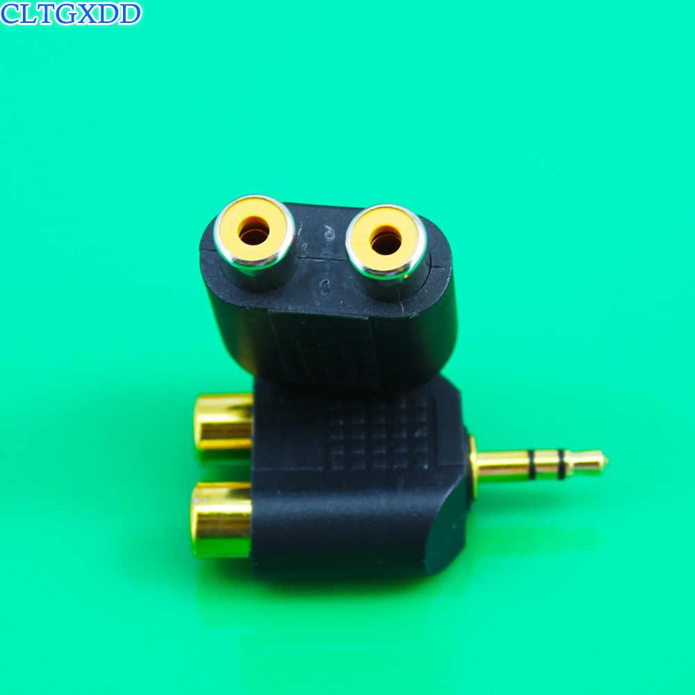 Cltgxdd banhado a ouro 3.5mm macho para RCA Fêmea jack 3.5 para AV Conector de Áudio 2 em 1 Estéreo fone de ouvido Dual Track Fone De Ouvido