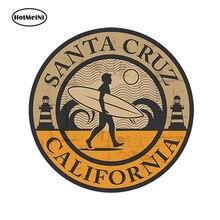 Hotmeini estilo do carro etiqueta do carro santa cruz califórnia vinil adesivo ipad portátil carro surf cali eua à prova dwaterproof água 13cm x 13cm