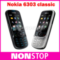 6303c Оригинал Unlcoked Nokia 6303 classic Bluetooth MP3 мобильный телефон Бесплатная доставка