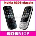 6303c Original Unlcoked Nokia 6303 classic Bluetooth MP3 cheap mobile phone Free shipping