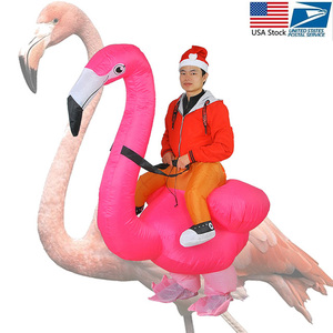 Image 2 - Flamingo Inflatable Costume Christms Mascot  Costume For Women Adults Kids halloween Cartoon Anime Mascot Cosplay For Party
