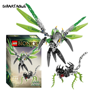 Image 2 - Smartable BIONICLE Uxar Creature of Jungle+Lewa Jungle Keepter Building Block Toy Set For Boy Compatible All Brands 71300+71305