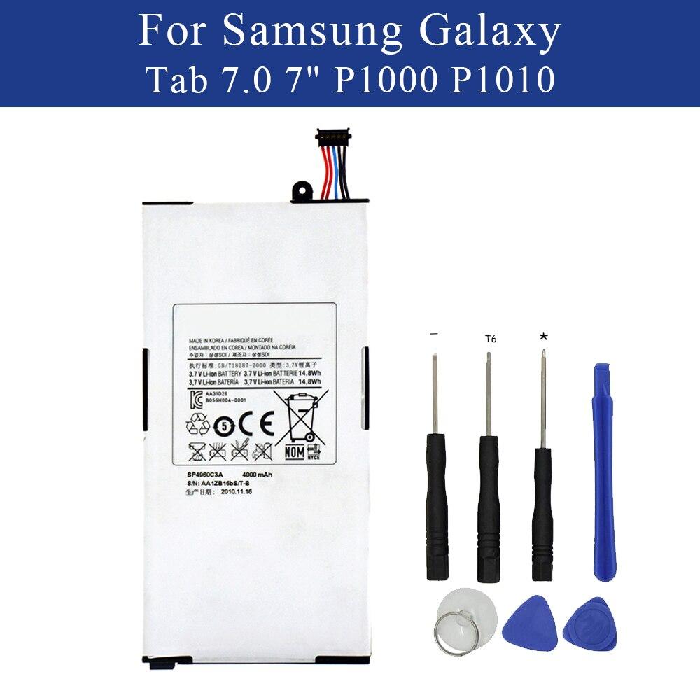 Nouvelle batterie de tablette SP4960C3A pour Samsung Galaxy Tab 7.0 7 GT-P1000 P1010 batterie interne avec outilsNouvelle batterie de tablette SP4960C3A pour Samsung Galaxy Tab 7.0 7 GT-P1000 P1010 batterie interne avec outils