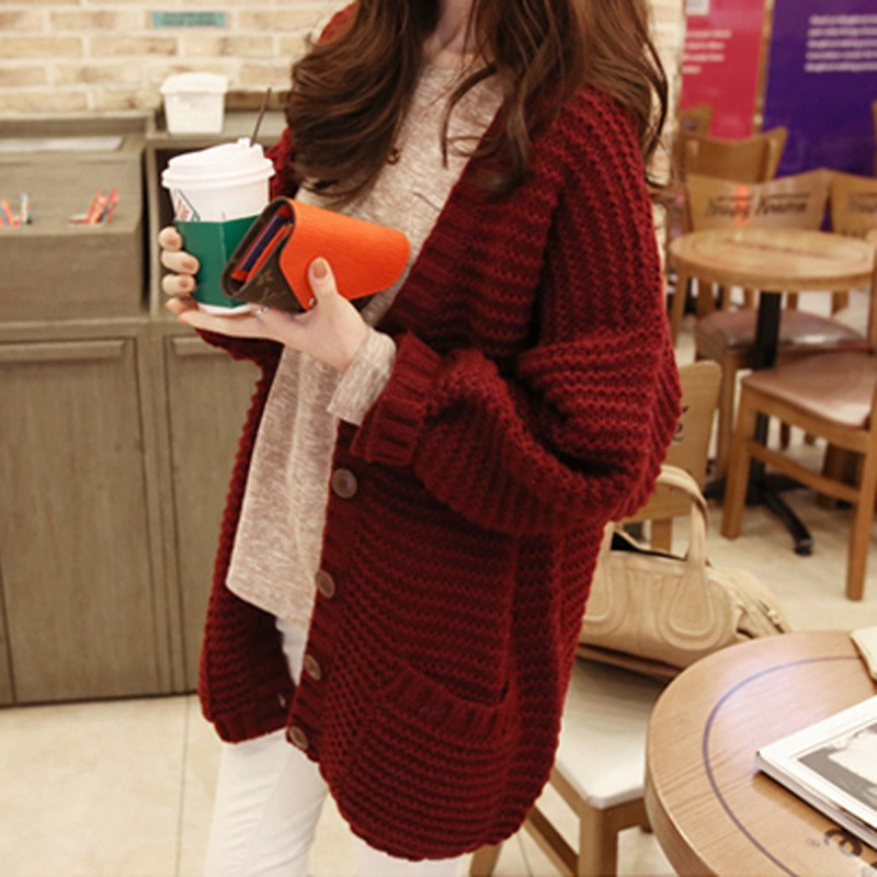 The new fall and winter clothes in the long cardigan coat female sweater women christmas sweater women winter jacket