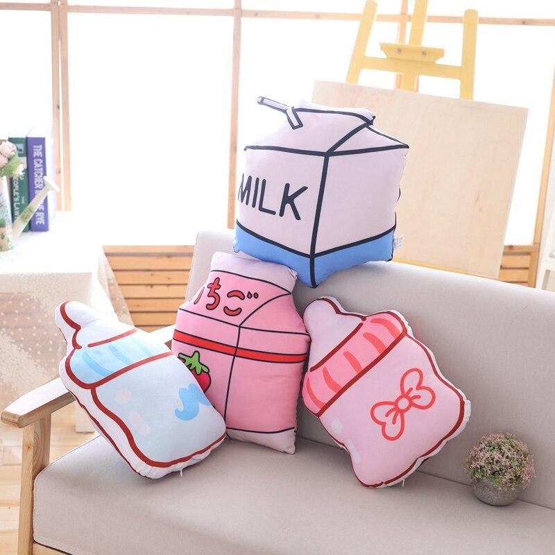 WunderschöNen Simulation Milch Flasche Plüsch Kissen Weiche Süße Flasche Cartoon Stofftier Sofa Hause Dekoration Kissen Puppen Kinder Besten Geschenke SorgfäLtige FäRbeprozesse Stofftiere & Plüsch Sammeln & Seltenes