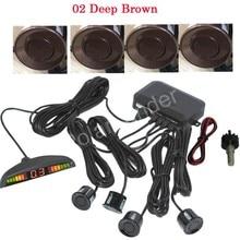 free shipping Car Parking sensor 4 sensors Buzzer Backup Radar Detector System Reverse Sound Alert 44 colors for option