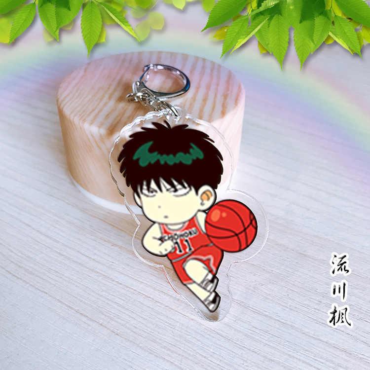 SLAM DUNK Sakuragi Hanamichi Rukawa Kaede Akrilik keychain haruko Akagi Takenori Pendant Chaveiro Keyring Cosplay sekitarnya