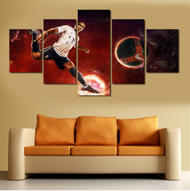 Football Star Sports Star Wars Canvas Vintage Poster Decoration Retro Posters Home Decor Art Paper Painting