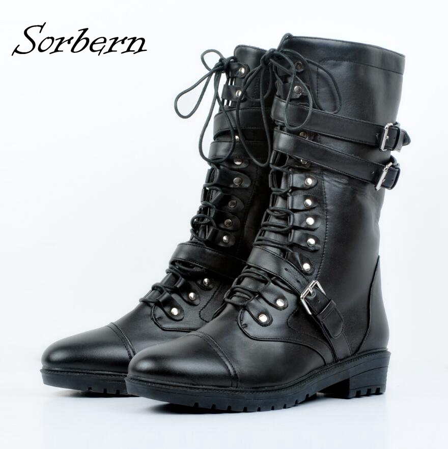 Soerben Black Flat Women Boots Chaussures Femme Plus Size Winter Boot Real Boots Women Botas Mujer PU Party Boots Bottine FemmeSoerben Black Flat Women Boots Chaussures Femme Plus Size Winter Boot Real Boots Women Botas Mujer PU Party Boots Bottine Femme