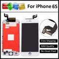 """Calidad aaa para apple iphone 6 s lcd reemplazo de la pantalla negro/blanco táctil digitalizador asamblea no dead pixel 4.7 """"pantalla"""